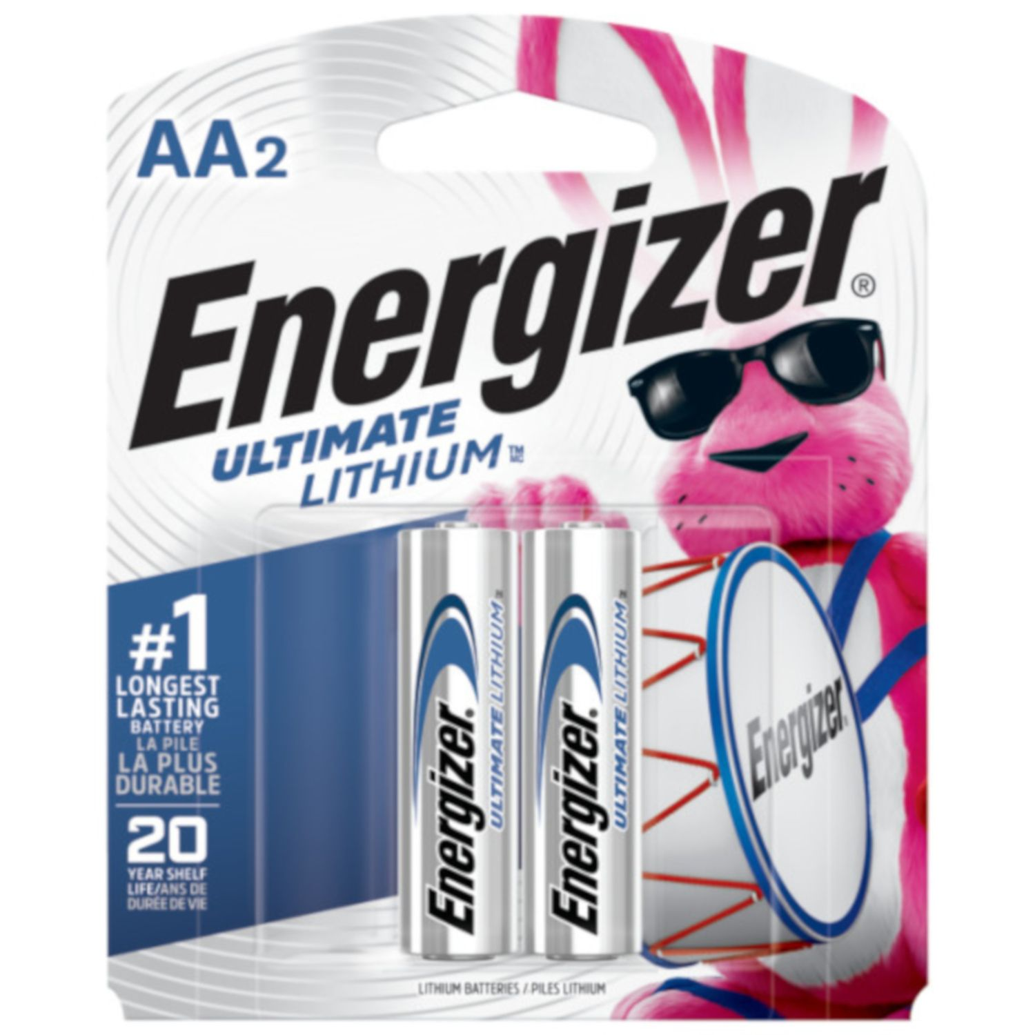 Energizer Ultimate Lithium Aa Camera Battery L91bp 2 2 Pk In 2021 Energizer Energizer Battery Lithium Battery