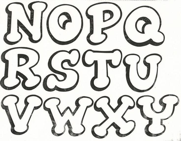 Moldes De Letras Para Imprimir Imagenes Y Dibujos Para Imprimir Lettering Alphabet Lettering Lettering Fonts