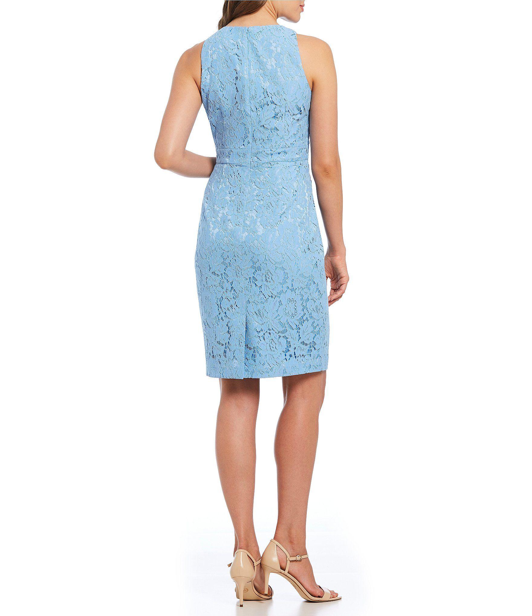 d2ebe59e2be Eliza J Lace Lace Ruffle Sheath Dress