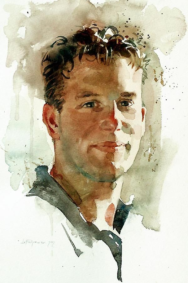 Ben Lustenhouwer Watercolor Portraits Watercolor Portrait
