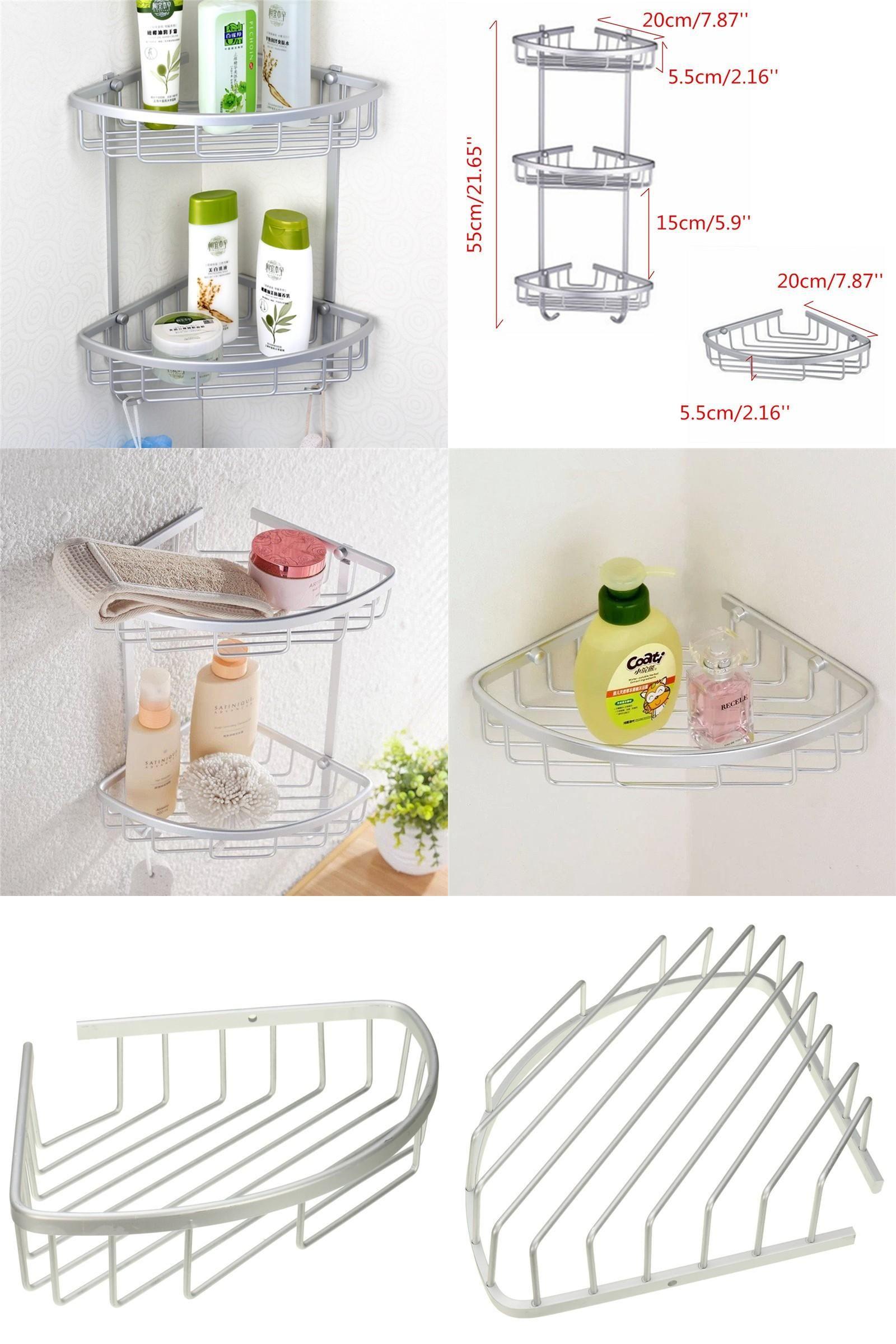 Visit To Buy Antique Space Aluminum Corner Basket Bathroom Products Luxury Cosmetic Stora Bathroom Shower Accessories Corner Storage Shelves Bathroom Shelves