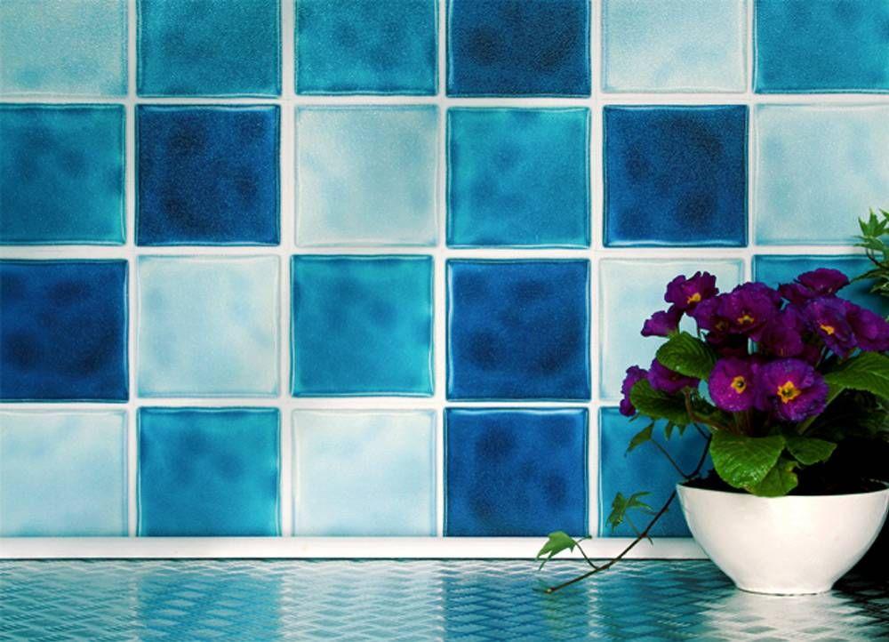 Blue Mix 4 X 4 Tiles 10cm X 10cm Self Adhesive Wall Tiles Kitchen Wall Tiles Wall Tiles