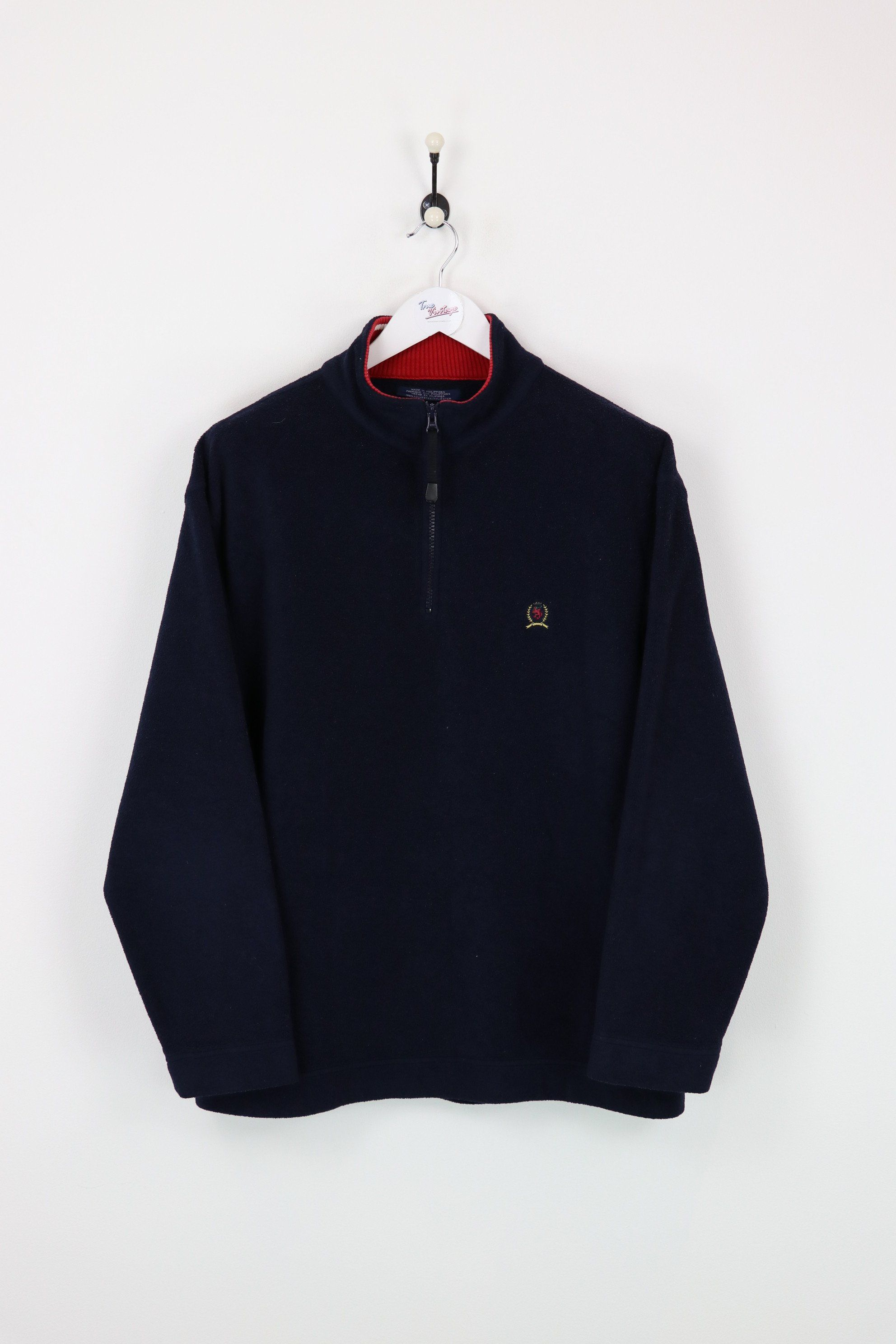 Tommy hilfiger fleece navy large vendor tommy hilfigertype