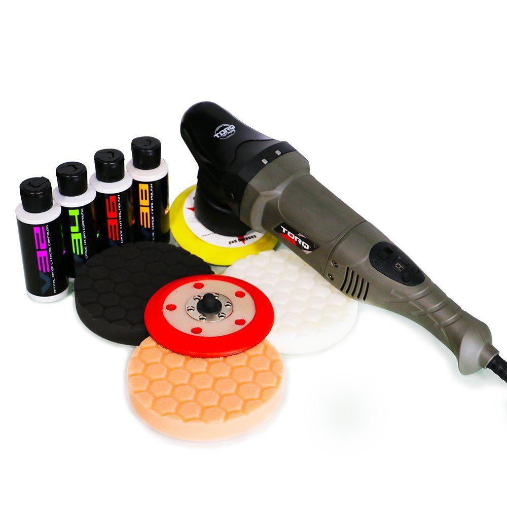 TORQ BUF501X 10FX Random Orbital Polisher Kit (Polisher + 9 Items)
