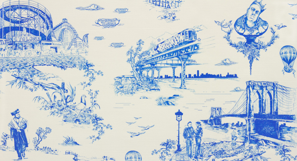Brooklyn Toile by Flavor paper Toile wallpaper, Flavor