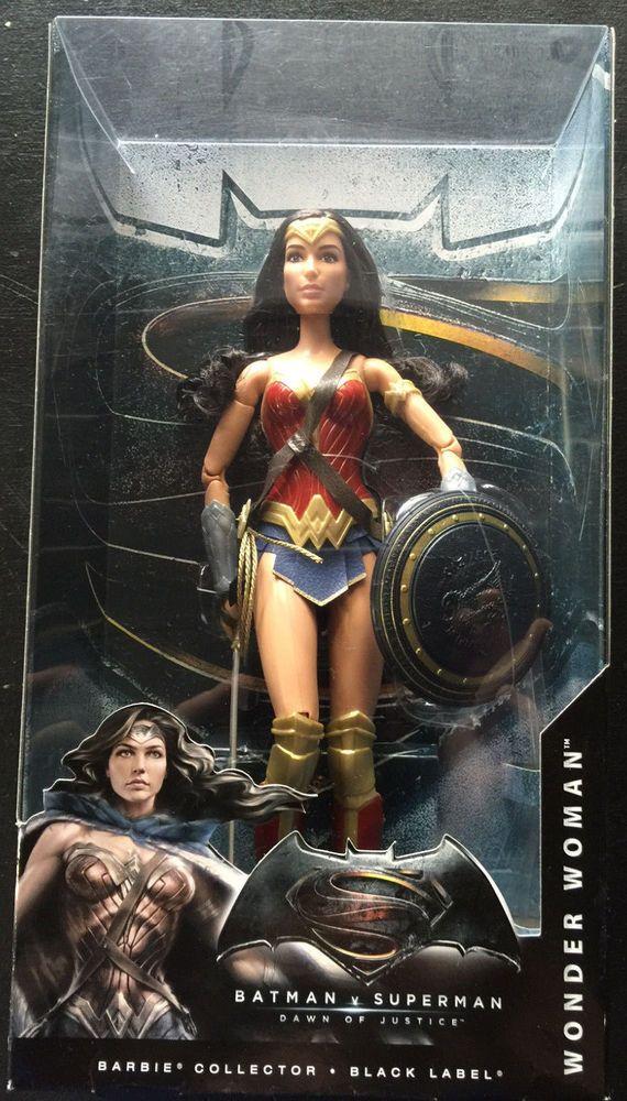 Barbie Collector Black Label Batman Vs Superman Set Wonder Woman Dawn Of Justice Ebay Wonder Woman Justice League Wonder Woman Superman Wonder Woman