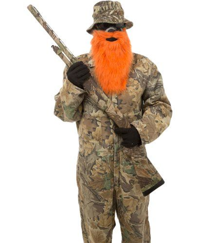 Beardski Hunter Face Mask, One Size, Orange