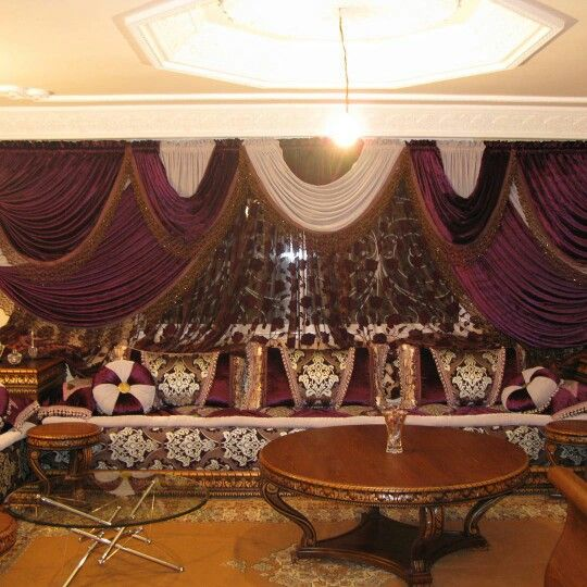 صالون مغربي Valance Curtains Decor Valance