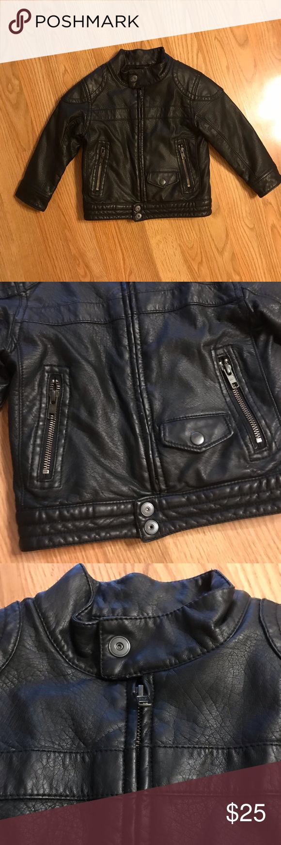 Baby Gap Toddler Moto Faux Leather Moto Jacket Brand Baby Gap Features Cute Moto Style Condition Faux Leather Moto Jacket Leather Moto Jacket Jacket Brands [ 1740 x 580 Pixel ]