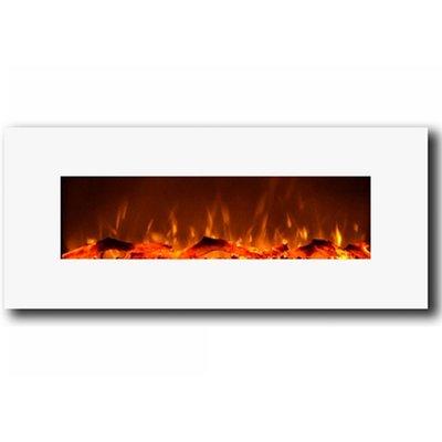 Wrought Studio Krish Wall Mounted Electric Fireplace Wall