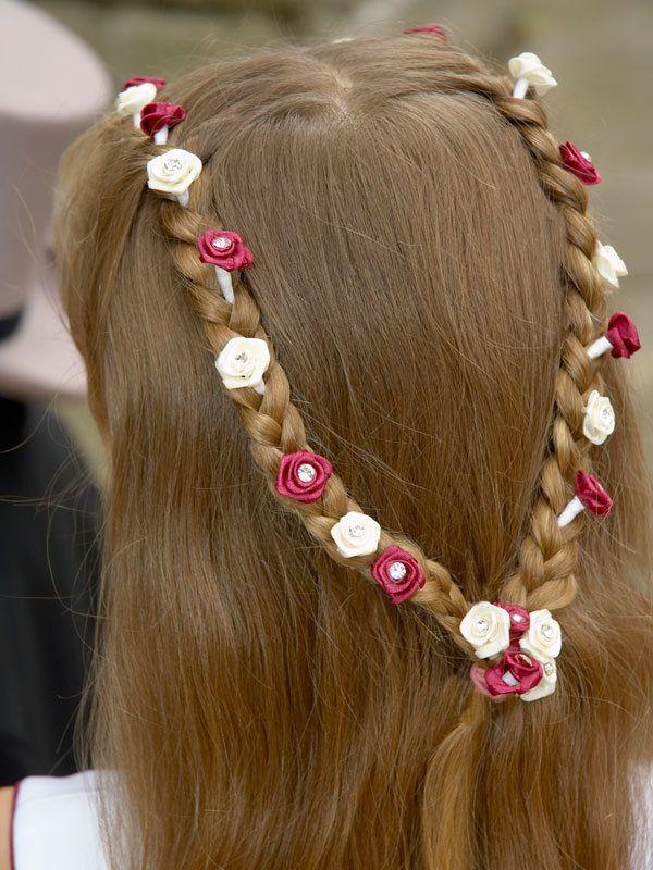 Sencillo y bonito peinados comunion trenzas Galería de cortes de pelo Consejos - Peinados de comunión - Trenzas parte alta cabeza | Trenza ...