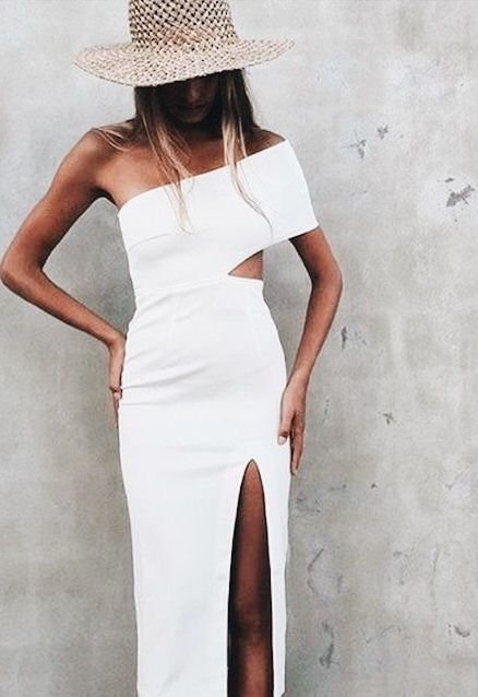 Pretty White Dress And Cute Straw Hat Fashionista In 2018 Pinterest Fashion Dresses Style