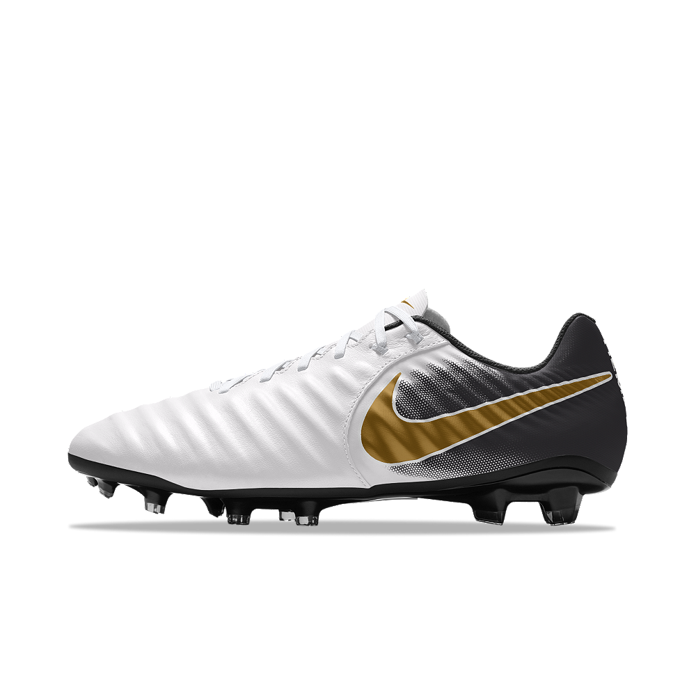 6ad18aee1a007c Nike Tiempo Ligera IV FG iD Men s Firm-Ground Soccer Cleats Size 12.5 (White