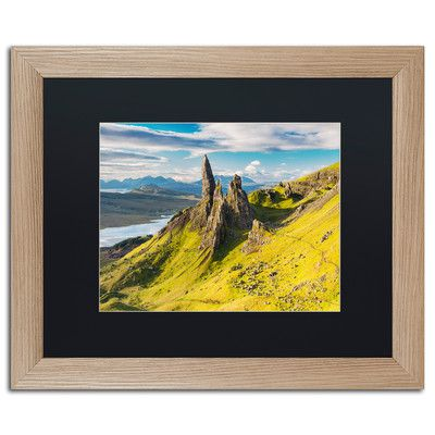 "Trademark Art 'Sanctuary Pinnacles' by Michael Blanchette Framed Photographic Print Matte Color: Black, Size: 16"" H x 20"" W x 0.5"" D"
