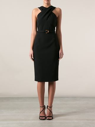 af4f1e857 Donna Suits Outfits Gucci Belted Waist Dress - - Farfetch.com ...