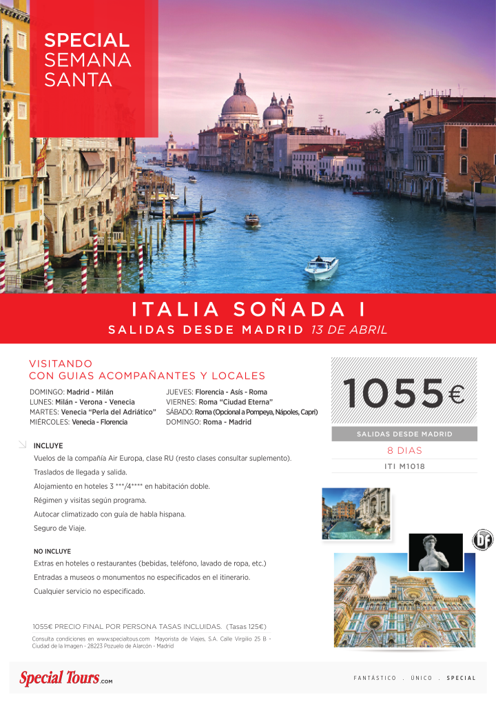 Oferta Italia Soñada I salida desde Madrid 13 de Abril ultimo minuto - http://zocotours.com/oferta-italia-sonada-i-salida-desde-madrid-13-de-abril-ultimo-minuto/
