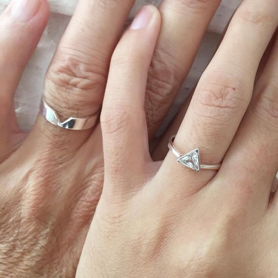 Matching Promise Rings His and Her Promise Rings Promise | Etsy | Couple ring in 2019 | Promise ...