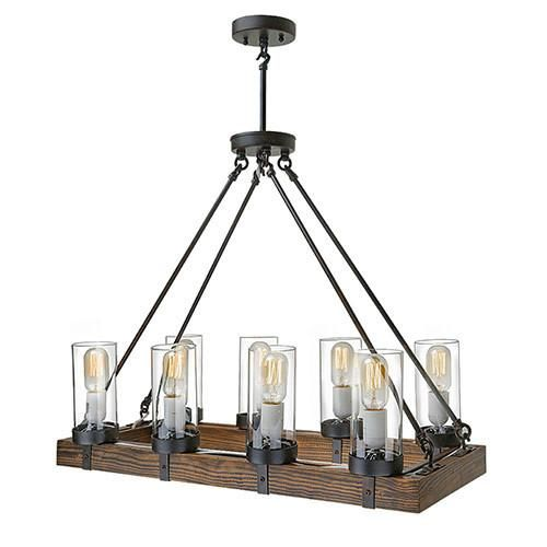 LNC Wood Kitchen Island Lighting For Dining Room Living Restaurant 8