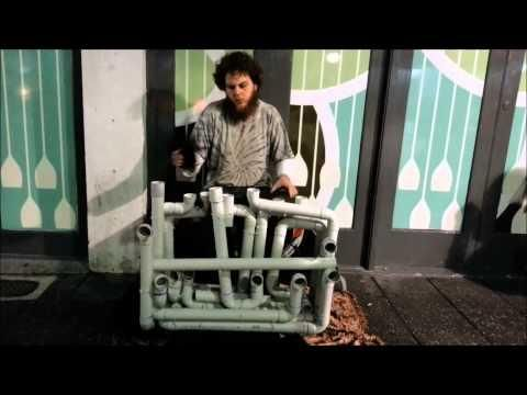 Pipe Guy Plays The Techno Nightlife Song On The PVC Pipe Instrument - #cool #instrument