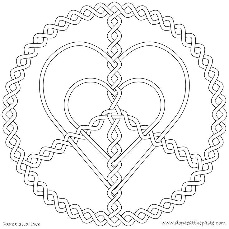 peace and love coloring page | CORAZONES HEARTS | jenny | Pinterest ...