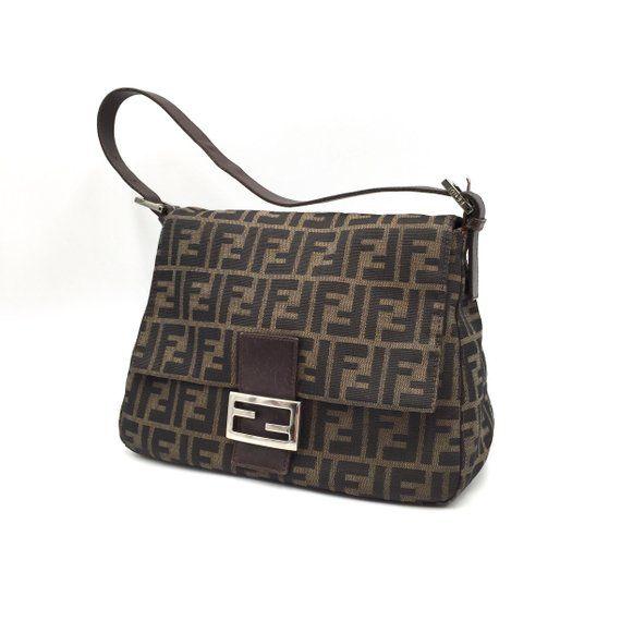 4cb2b80ce Authentic Vintage Fendi Zucca Mama Baguette Bag | Fendi Vintage Bag ...