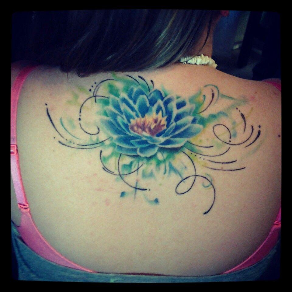 Lotus flower back tattoo | art | Flower tattoo back ...