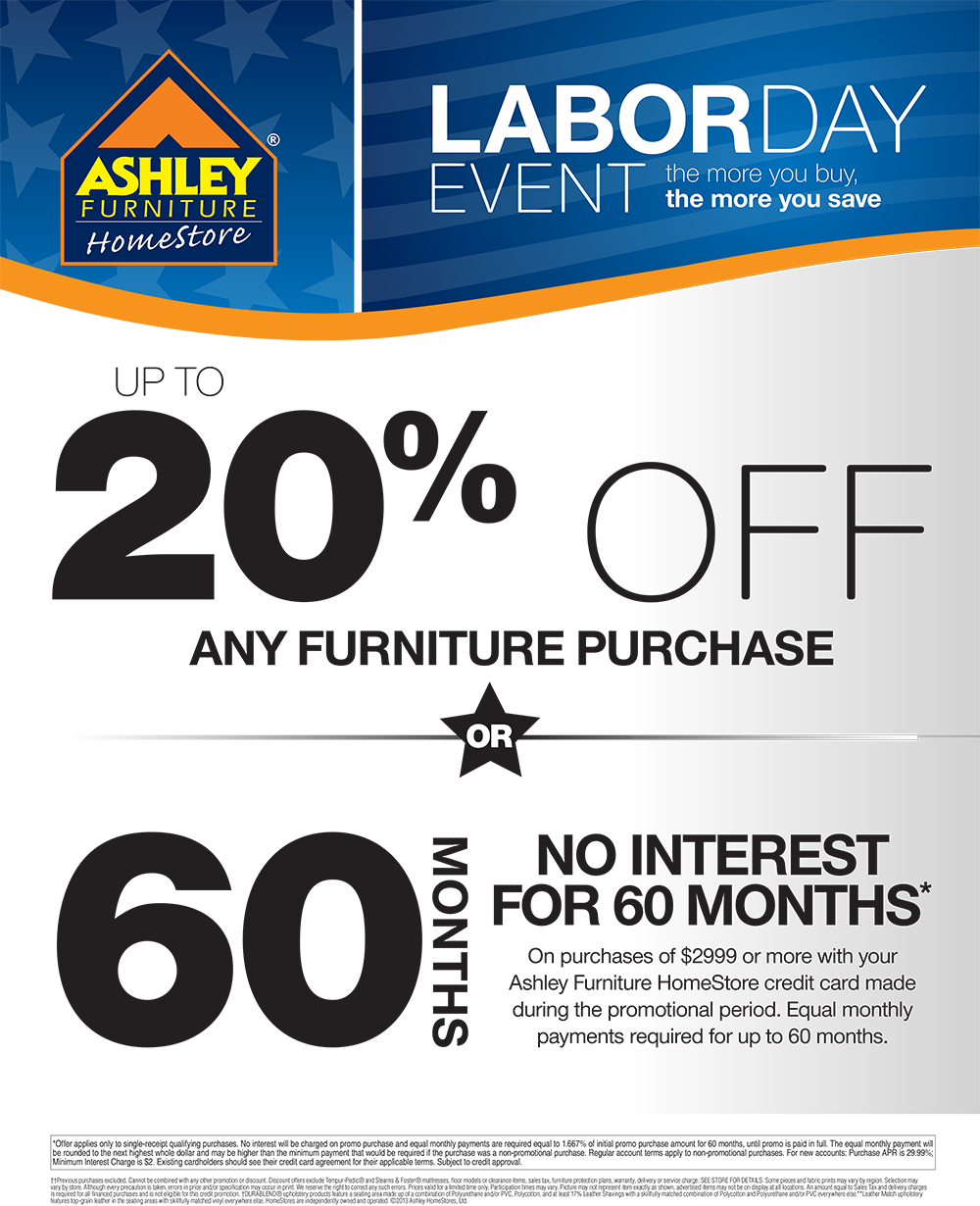labor day event going on right now at ashleyfurniture in richland wa august 20 2013. Black Bedroom Furniture Sets. Home Design Ideas