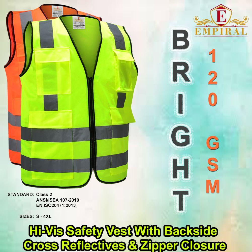 Bright safety vest mobile pocket reflective tape