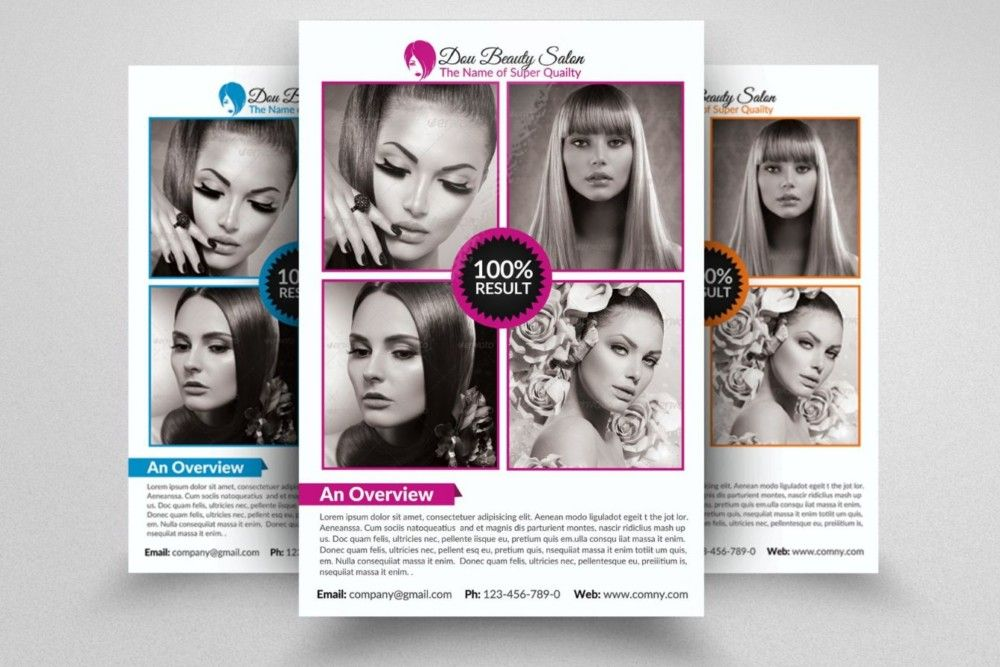ElegantSalonFlyerTemplatePsd   Beauty Salon Flyer Template