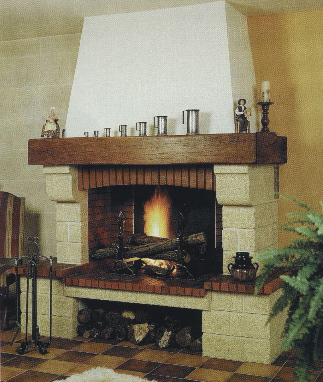 Home Foyer De La Côte Corcelles : Cheminée sur mesures rustique foyer ouvert pierre et