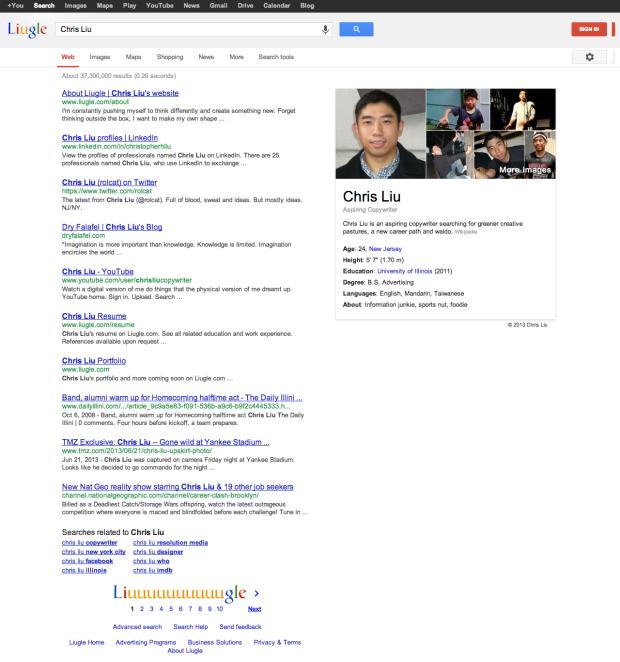 Un Cv Original Inspire De La Page De Resultats De Recherche Googleil Etait Une Pub Le Blog D Actualite Publicitaire Le Cv Cv Original Marketing