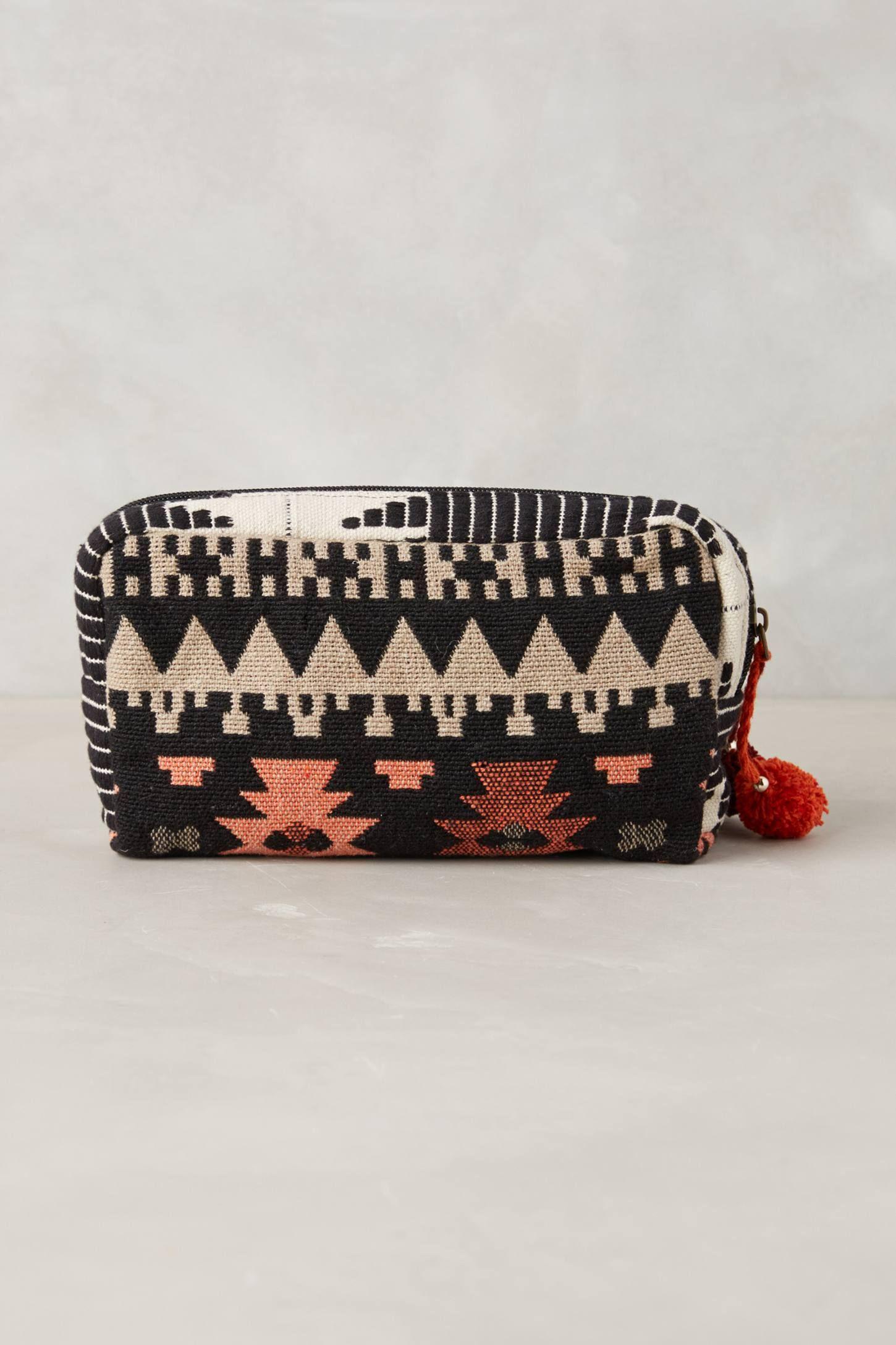 Ocllo Woven Cosmetic Bag - anthropologie.com