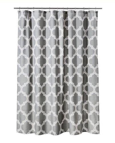 Threshold Home For Target New Gray Frette Shower Curtain 72x72 NWOT