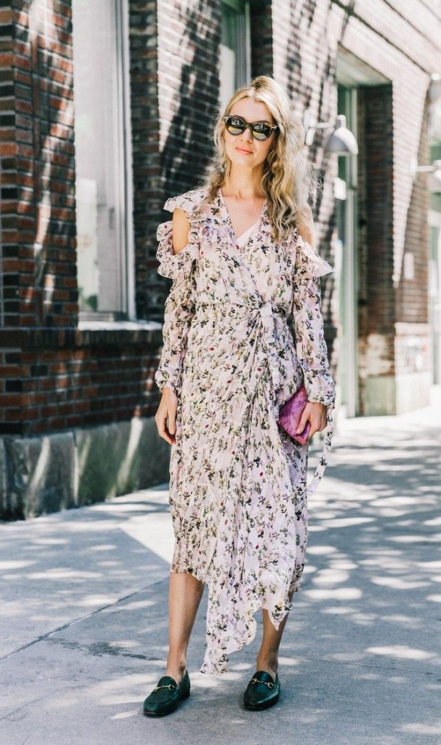 Floral Dress + Loafers