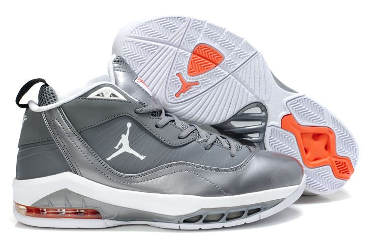 UK sale Men Nike Jordan Melo M8 Baseball Orange Grey Shoes