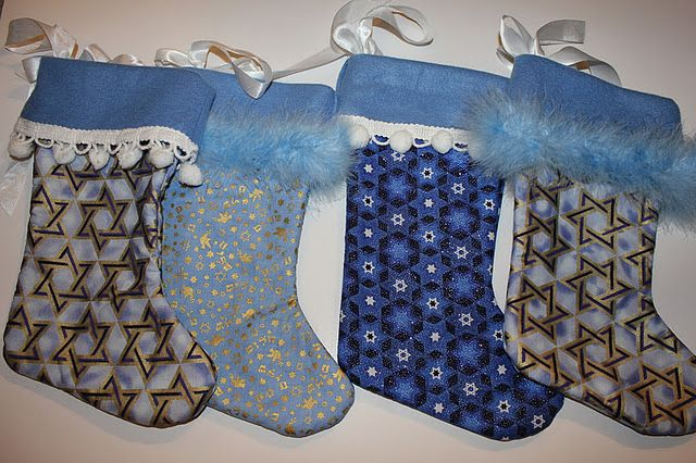 Hanukkah Christmas Stocking.Free Sewing Pattern For Hanukkah Chrismukkah Or Christmas
