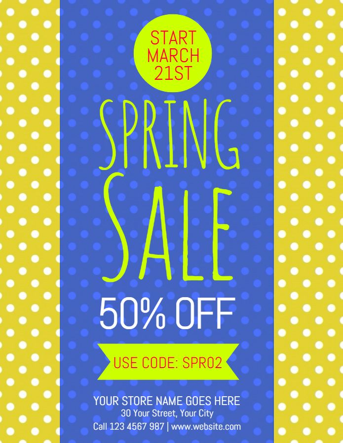 Spring garage sale poster flyer social media post template. | Garage ...