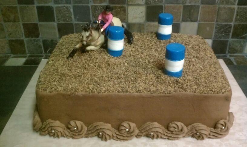 Barrel Racer Theme Cake In 2020 Barrel Racing Cake Happy