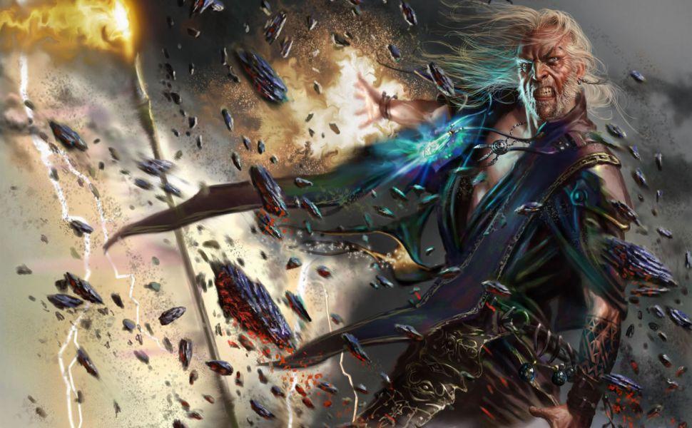 Skyrim Mage Hd Wallpaper Fantasy Art Men Fantasy Art Fantasy