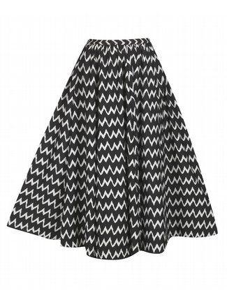 Black Baltic Full Sweep Skirt