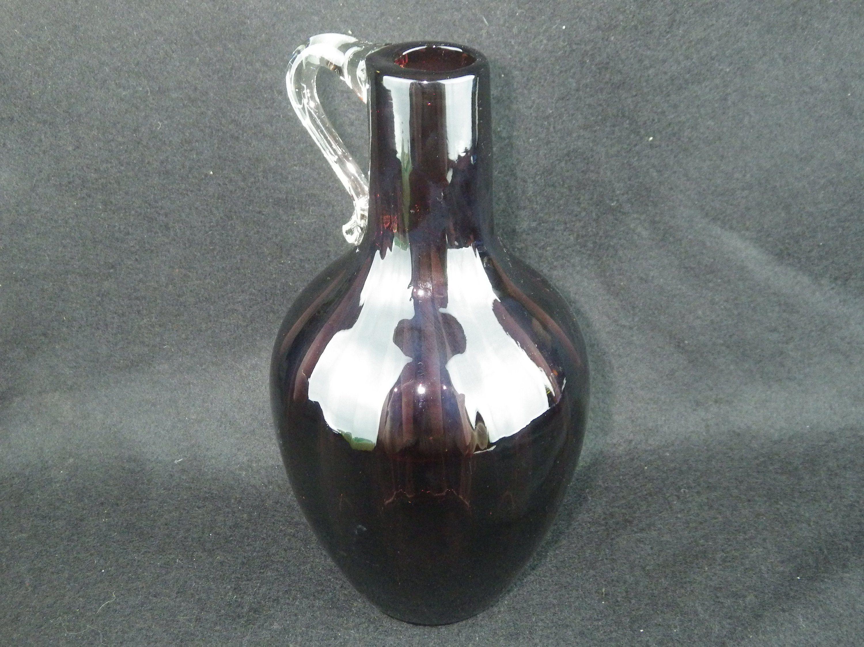 Mid century hand blown amethyst optic jug httpsetsyme