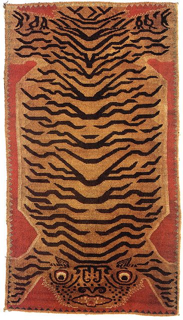 Tibetan tiger rug   Flickr - Photo Sharing!