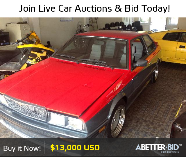 Salvage 1987 MASERATI ALL MODELS For Sale