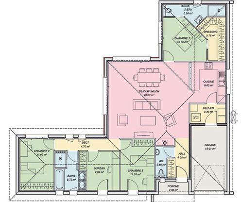 Maison Contemporaine Avec Pice De Vie Lumineuse  Chambres Dont