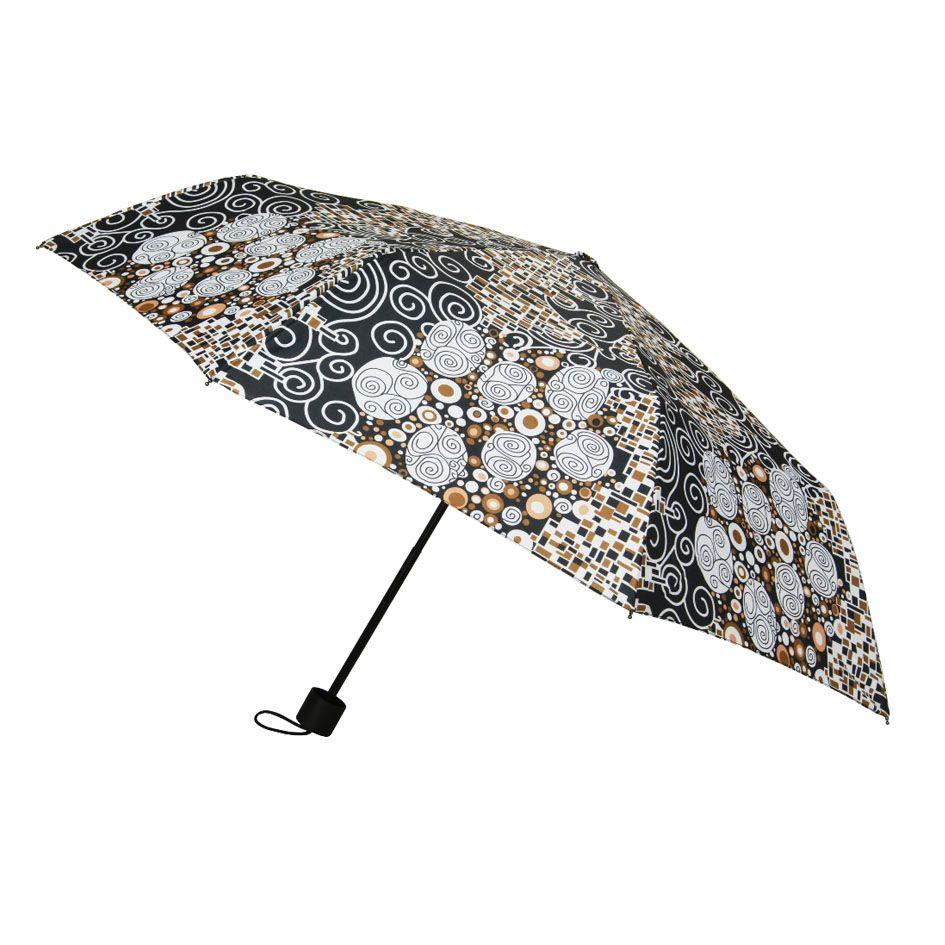 Signare Umbrella Collection Folding Straight Handle Umbrella In Gustavklimt Kiss Design Umbrella