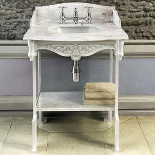 Georgian marble top basin on washstand - Basins