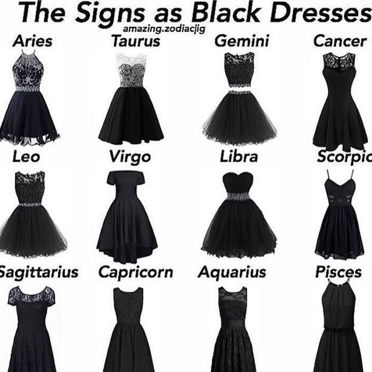 I would tottaly wear the sagittarius one actually I like all of them except for - Black Dresses - Ideas of Black Dresses #BlackDresses - I would tottaly wear the sagittarius one actually I like all of them except for libra and scorpio #zodiacsignsoutfits