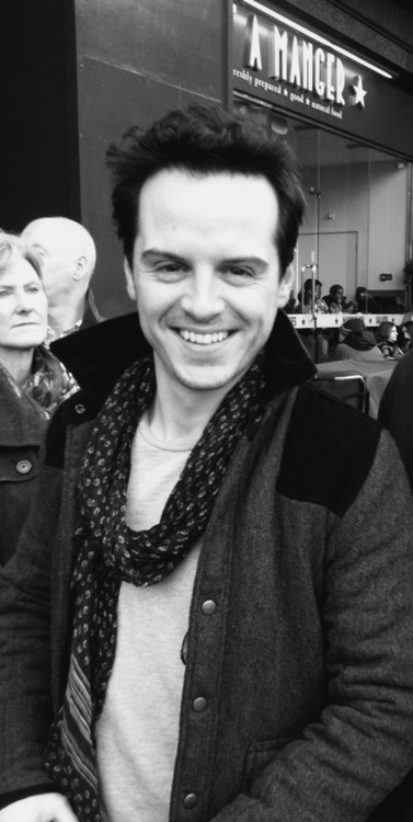 Andrew Scott who is now the subject of my nightmares because his skill as Moriarty. He plays the part so well it terrifies me!