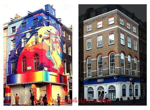 Love when swinging london murals need more her!