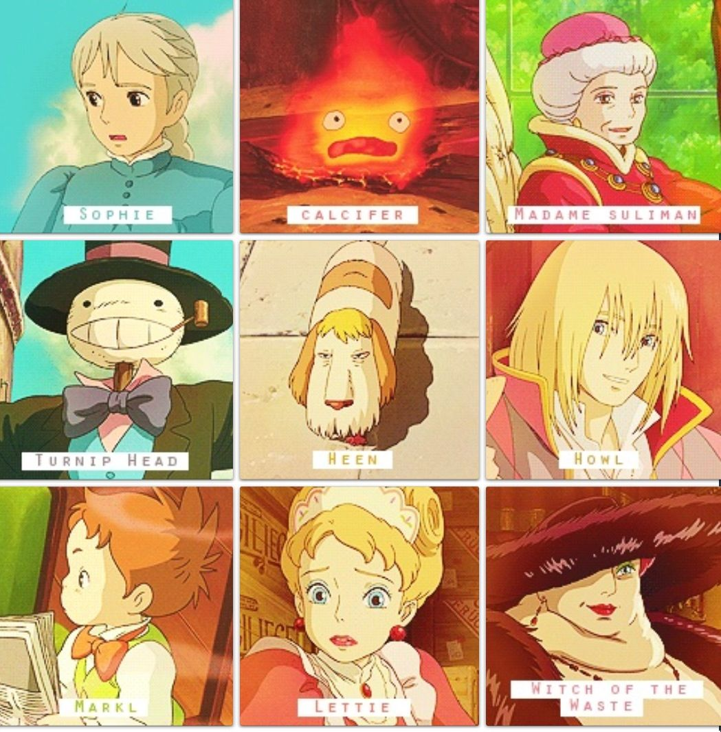 Howl S Moving Castle Characters Hahaha Heen I Guess That S His
